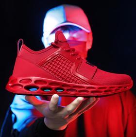 【网球鞋】男鞋跑步鞋低帮飞织网布面大码透气减震时尚慢跑鞋休闲运动鞋