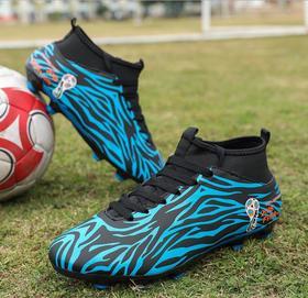 【足球鞋】FG足球鞋男女中高帮迷彩皮面胶钉长钉草地儿童成年比赛运动训练鞋