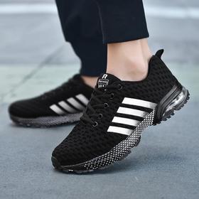 【网球鞋】情侣气垫运动鞋男飞线跑步鞋休闲男鞋春季透气马拉松跑鞋