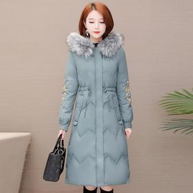 大毛领加厚,绣花气质羽绒外套YW-AS507