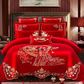 【婚庆套件】大红高档款婚庆用品 结婚用品 套件 刺绣
