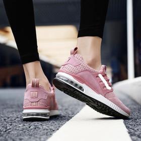 【网球鞋】粉红色情侣款气垫运动跑步鞋男鞋时尚女鞋潮流运动鞋子