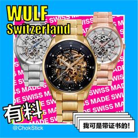 WULF 瑞士名表 Exo 镂空飞轮系列机械表 | 钢表带 5 款(瑞士)