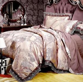 【婚庆套件】欧式高档贡缎纯棉提花四件套婚庆床上用品