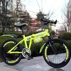 【自行车】新款20寸成人赠品折叠自行车公路自行山地非变速车批