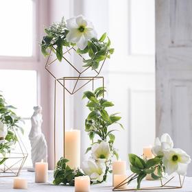 创意米子家居北欧风金色铁架花艺套装居家室内办公室工艺品摆件