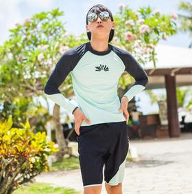 【泳衣】韩国男士长袖沙滩泳衣冲浪跑男泳装沙滩衣防晒速干