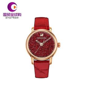 施华洛世奇 CRYSTALLINE HOURS系列女士红色腕表