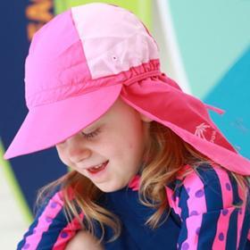【泳帽】儿童泳帽带沿遮阳泳帽海边沙滩戏水儿童防晒防风弹力泳帽