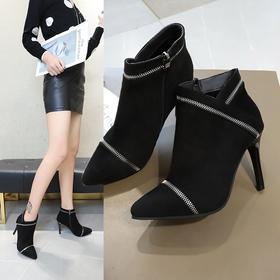 【清仓特价 不退不换】LN333新款时尚细跟高跟马丁靴TZF