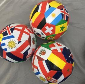 【足球】万国旗足球32片儿童足球3号足球pvc训练足球彩色足球5号国旗足球