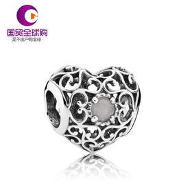 【香港直邮】PANDORA 潘多拉 灰色925银/月光石月长石串珠