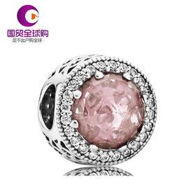 【香港直邮】PANDORA 潘多拉 粉色925银锆石圣诞切面串珠