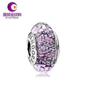 【香港直邮】PANDORA 潘多拉 深紫色925银/琉璃串珠