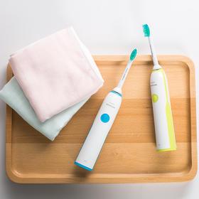 【牙医推荐】飞利浦声波电动牙刷 智能自动计时 软毛护龈 安全防水