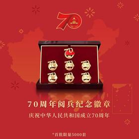 2019 国庆70周年阅兵纪念徽章 正品镀金