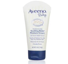 【保税区直发】美国Aveeno 艾维诺婴儿保湿润肤霜深蓝盖140g