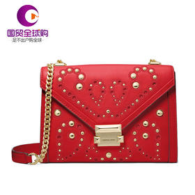 【香港直邮】Michael Kors 迈克·科尔斯 女士红色皮革单肩包斜挎包