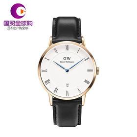 【香港直邮】Daniel Wellington 丹尼尔惠灵顿 男士黑色表带不锈钢手表