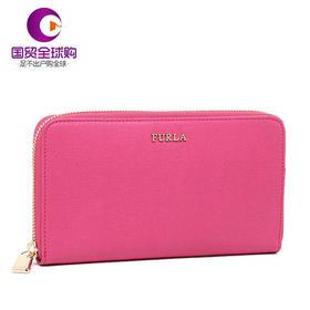 【香港直邮】Furla 芙拉 女士粉色牛皮长款拉链钱包