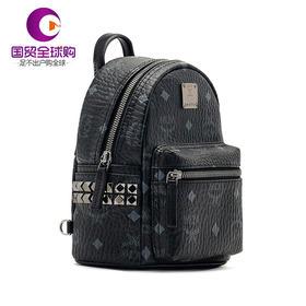 【香港直邮】MCM 女士黑色PVC双肩包