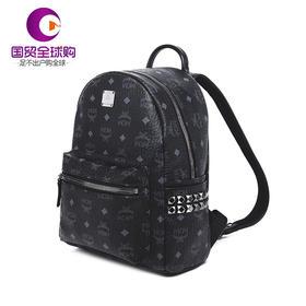 【香港直邮】MCM Stark系列小号黑色双肩背包