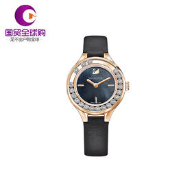 【香港直邮】Swarovski 施华洛世奇 黑色仿水晶LOVELY CRYSTALS MINI 女士手表