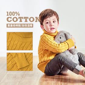 fx-咕噜日记儿童麻花针织高领毛衣QGX707