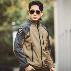 【保暖防风】塑型拼色软壳冲锋衣