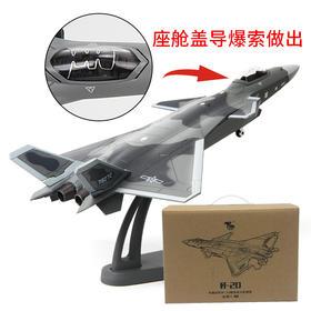 特尔博1:100歼20隐形战斗机模型