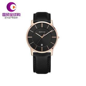 【香港直邮】Bering 白令 男士黑色人工蓝宝石腕表