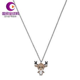 【香港直邮】Swarovski 施华洛世奇 多色仿水晶小鹿吊坠项链