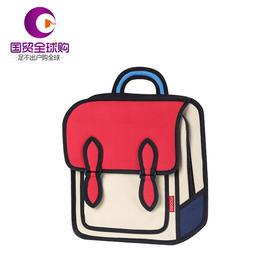 【保税区直发】mobee 莫贝二次元儿童书包小孩学生包男女孩双肩背包 红色款