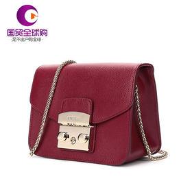 【香港直邮】Furla 芙拉 女士红色皮革单肩斜挎包