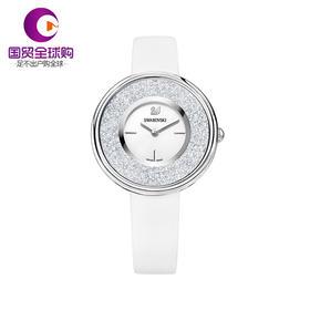 【香港直邮】Swarovski 施华洛世奇 女士白色矿物质玻璃石英表