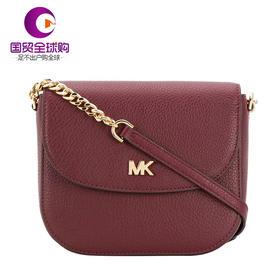 【香港直邮】QH SS19 Michael Kors 迈克·科尔斯 女士深红色斜挎包