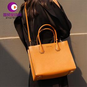 【香港直邮】Michael Kors 迈克·科尔斯 MERCER系列女士棕色牛皮手提包