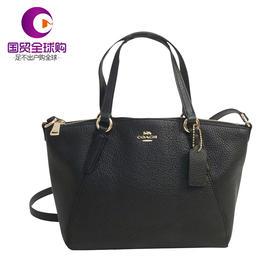【香港直邮】Coach 蔻驰 女士黑色皮革手提包单肩包