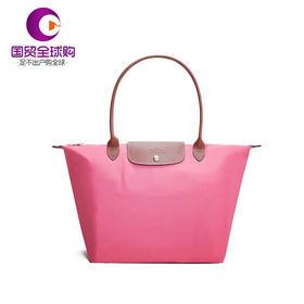 【香港直邮】Longchamp 珑骧 女士粉色Pliage /尼龙手提包