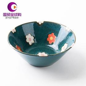 日本AITO Botamical中西餐盘美浓烧陶瓷碟浅口碗春意草莓创意单碗