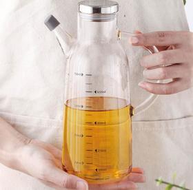 【油壶】高硼硅玻璃油壶计量壶酱油醋瓶调料罐