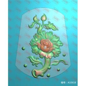 A10618 牡丹花 平面浮雕牌子