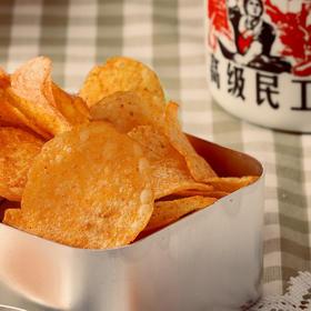 香脆过瘾国货薯片 辣么辣土豆片 薄可透光 广式辣湘风辣风味