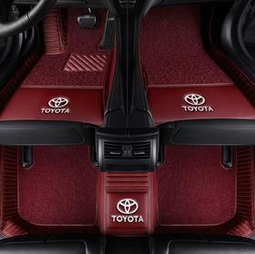 【汽车脚垫】适用于凯美瑞锐志雷凌皇冠卡罗拉双擎汉兰达RAV4荣放全包汽车脚垫