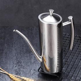 【油壶】不锈钢油壶304厨房欧式壶创意食用油壶可按防漏