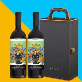 【新品发售】【2支礼盒装】Goodovinters 孤独汪西拉子干红葡萄酒两支装Shiraz 750ml/支澳洲进口国内发货