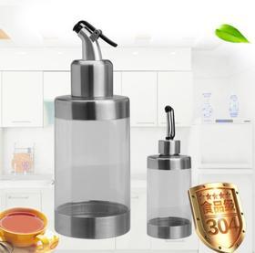 【油壶】304不锈钢透明款亚克力调味瓶油壶醋瓶可视内容量350ml