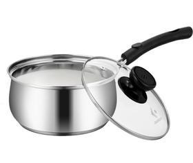 【奶锅】304加厚不锈钢三层复底汤锅 不沾无涂层奶锅