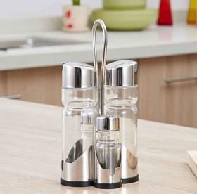 【油壶】304不锈钢调味瓶套装玻璃酱油瓶油壶创意