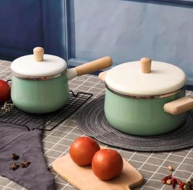 【奶锅】加厚搪瓷汤锅北欧风简约珐琅宝宝辅食锅奶锅